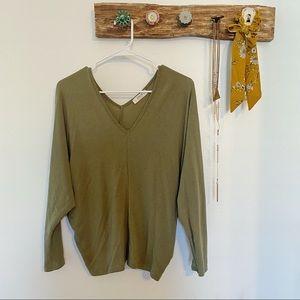 Forever21 Olive Green Dolman Top (NWOT)